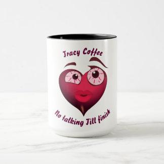 Cute Girl Heart With Blood Shot Eyes Mug