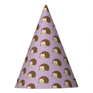 Cute Girl Hedgehog Party Hat