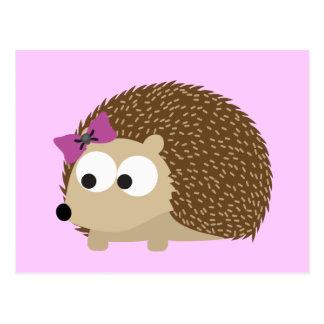 Cute Girl Hedgehog Postcard
