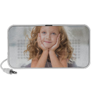 Cute Girl image Travelling Speaker