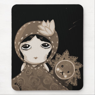 Cute Girl - Leopold Won't Give Up Mouse Pad