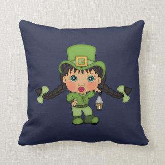 Cute Girl Leprechaun Reversible Pillow
