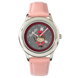 Cute Girl Magician and Bunny For Kids Watch