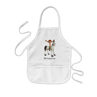 Cute Girl on Horse Personalized Child's Apron