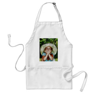 Cute Girl Outdoor Painting Aprons