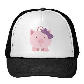 Cute Girl Pig Mesh Hats