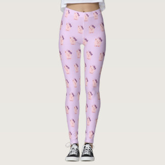 Cute Girl Pig Leggings