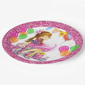 Cute Girl Princess Party Goods 9 Inch Paper Plate