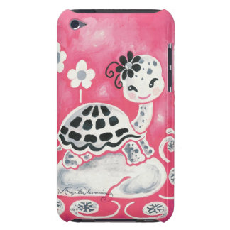 Cute Girl Turtle With Flowers & Swirls (4th gen.) Barely There iPod Case