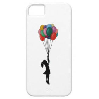 Cute girl with balloons iphone iPhone 5 cover