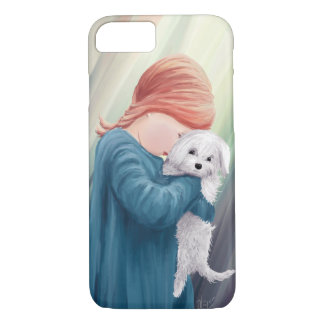 Cute Girl with Dog iPhone 8/7 Case