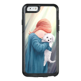 Cute Girl with Dog OtterBox iPhone 6/6s Case
