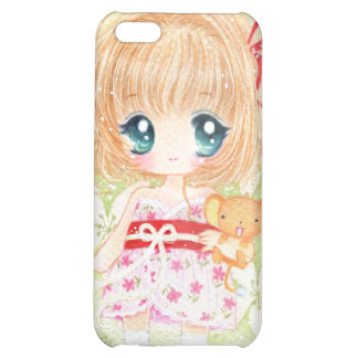 Cute girl with kawaii plushie iPhone 5C cases