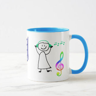 Cute Girl with Musical Notes Coffee Mug