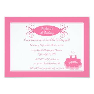 Cute girl's ballerina birthday party invitation
