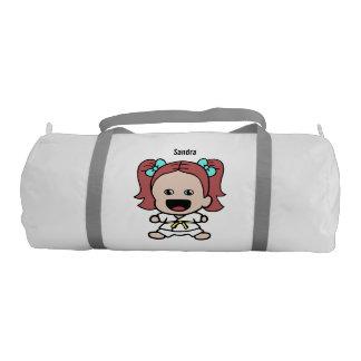 Cute Girl's Karate Duffel Bag Gym Duffel Bag