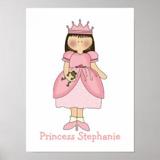 Cute Girl's Princess Print
