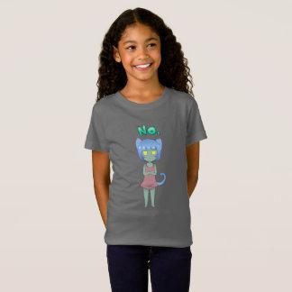 Cute girl's sassy Little Blue cat t-shirt