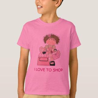 Cute Girl's Shopping T-Shirt