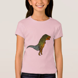 Cute girls T-Rex dinosaur art T-Shirt