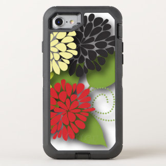 Cute Girly Abstract Flowers OtterBox Defender iPhone 8/7 Case
