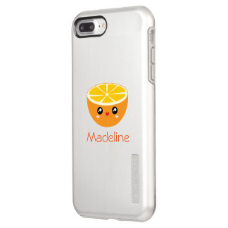 Cute Girly Adorable Happy Sweet Orange Cartoon Incipio DualPro Shine iPhone 8 Plus/7 Plus Case