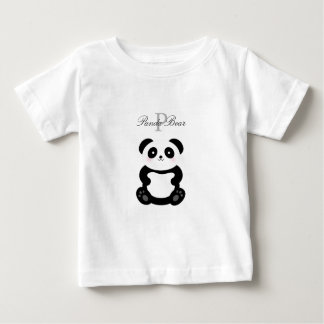 Cute Girly Baby Girl Panda Bear Monogram Baby T-Shirt