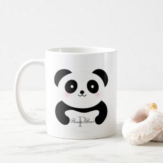 Cute Girly Baby Panda Bear Monogram Coffee Mug