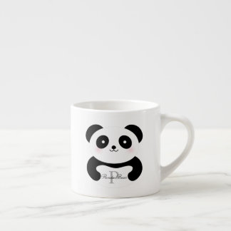 Cute Girly Baby Panda Bear Monogram Espresso Cup