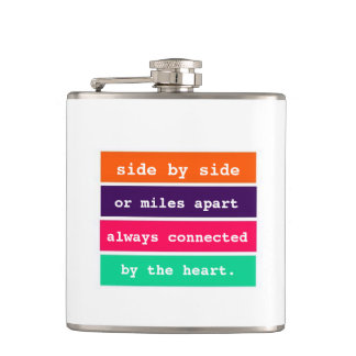 Cute Girly Best Friends Side by Side Quote Flask