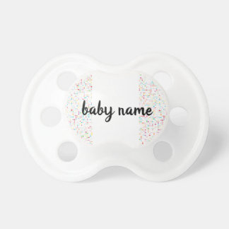 Cute Girly Bling Glitter Pattern Personalized Name Dummy