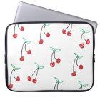 Cute Girly Cherry print Laptop Sleeve