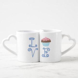 Cute Girly Colorful Kawaii Sweet Love Cupcake Coffee Mug Set