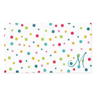 Cute girly colourful different sizes  polka dots pack of standard business cards