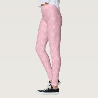 Cute Girly Deer Pattern   Pale Pink Leggings