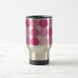 Cute Girly Elegant Pink Polka Dots Travel Mug