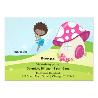 Cute girly Fairy 13 Cm X 18 Cm Invitation Card