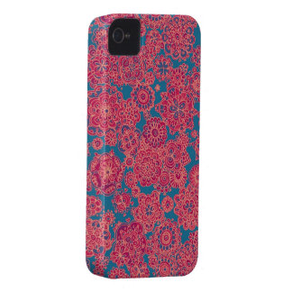 Cute girly flower doodle pattern for your phone iPhone 4 covers