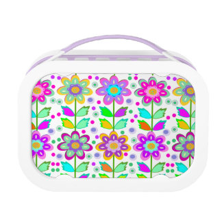 Cute girly flowers lunchboxes