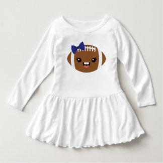 Cute Girly Football Dress - Navy Bow
