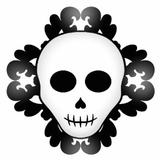 Cute girly gothic glam skull Halloween Photo Sculpture Magnet
