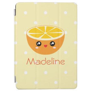 Cute Girly Kawaii Happy Sweet Orange Cartoon iPad Air Cover