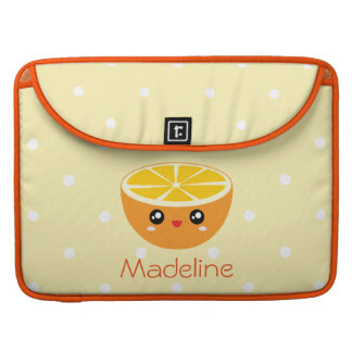 Cute Girly Kawaii Happy Sweet Orange Cartoon Sleeve For MacBook Pro