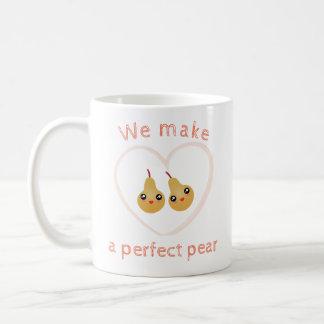 Cute Girly Kawaii We Make A Perfect Pear Pun Humor Coffee Mug