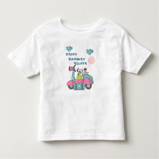 Cute Girly Motorcycle With Happy Birthday Toddler T-Shirt
