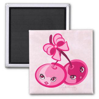Cute Girly Pink Cherries Fridge Magnets