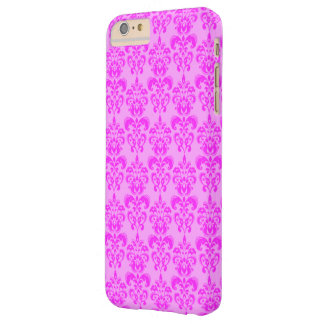 Cute Girly Pink Damask Barely There iPhone 6 Plus Case