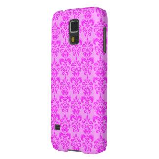 Cute Girly Pink Damask Galaxy S5 Case