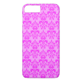 Cute Girly Pink Damask iPhone 7 Plus Case