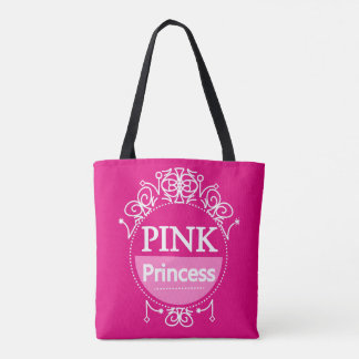 Cute Girly Pink Princess Tote Bag